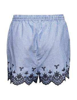Shorts Bordados onlTAMMY Only - Azul/Rayas