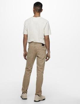 Jeans ONSLOOM LIFE SLIM TWILL MA 9197 ONLY&SONS - Beige