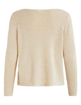 Jersey VISINOA BOATNECK L/S KNIT TOP - FAV VILA - Beige