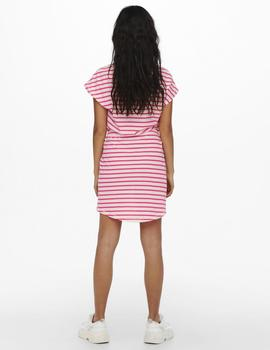 Vestido ONLMAY LIFE S/S DRESS NOOS ONLY - Fucsia