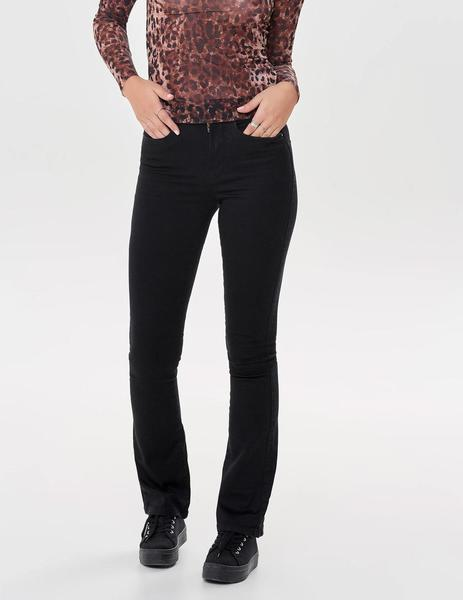 Pantalón ONLROYAL HIGH  SWEET FLARED 600 NOOS - Negro