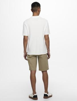 Polo ONSMOOSE LIFE 12 SS POLO KNIT ONLY&SON - Blanco