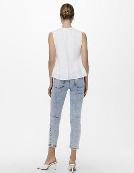 Top ONLMARIKA S/L TOP WVN ONLY - Blanco