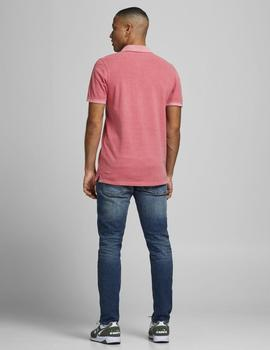 Polo JJEWASHED POLO SS NOOS Jack & Jones - Rosa