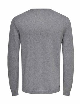 Jersey ONSCALM 12 EMBROIDERY Only&Sons - Gris