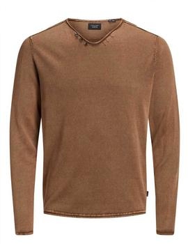 Jersey JPRRETURN KNIT U-NECK Jack&Jones - Marrón