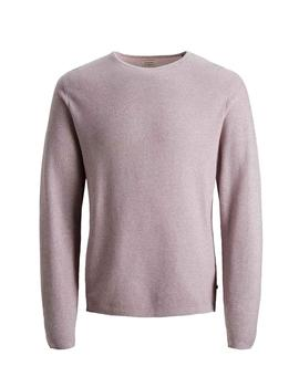 Jersey JJERON KNIT CREW NECK NOOS Jack & Jones - Rosa