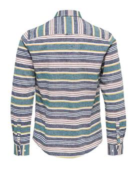 Camisa onsCAIDEN LS STRIPED Only&Sons - Verde claro