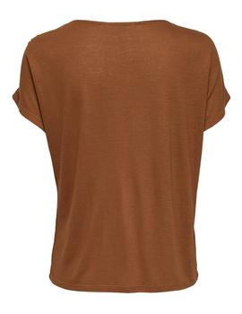 Camiseta ONLNOOR S/S V-NECK TOP CS JRS - Marrón
