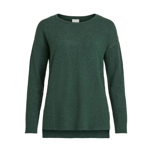 Jersey VIRIL HIGH LOW L/S KNIT TOP - NOOS VILA - Verde