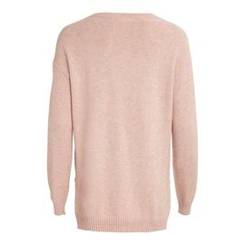 Jersey VIRIL HIGH LOW L/S KNIT TOP - NOOS VILA - Rosa