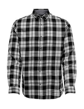 Camisa onsOMAR LS CHECKED HERRINGBONE Only&Sons - Negro