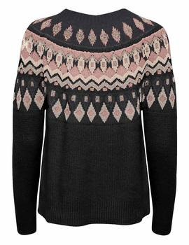 Jersey ONLAMBER JAQUARD L/S PULLOVER KNT - Gris Oscuro