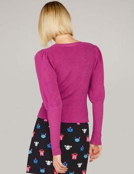JERSEY PINK LOVER SWEATER - FUCSIA