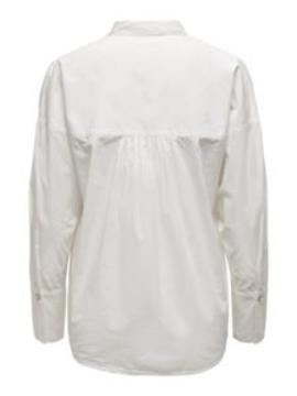Camisa ONLSYBIL LIFE  L/S LOOSE SHIRT WVN ONLY - Blanco