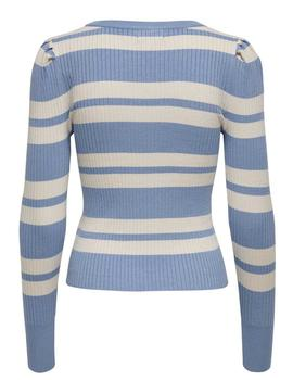 Jersey ONLEMMY L/S PUFF PULLOVER KNT ONLY - Azul Claro