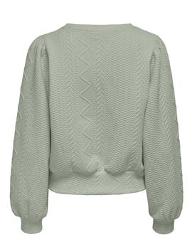 Sudadera ONLCABLE L/S O-NECK SWT ONLY - Verde Agua