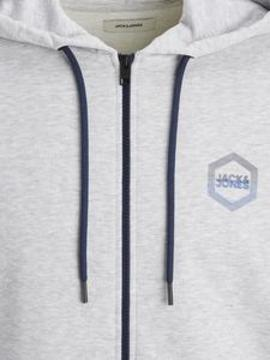 Sudadera JJDELIGHT SWEAT ZIP HOOD Jack&Jones - Gris